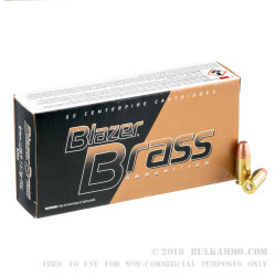 1000 Rounds of 9mm Ammo by Blazer Brass - 147gr FMJ