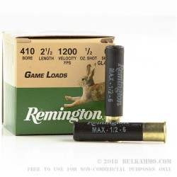 200 Rounds of .410 Ammo by Remington - 1/2 ounce #6 shot