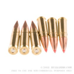 20 Rounds of .300 AAC Blackout Ammo by Hornady - 208gr A-MAX Match