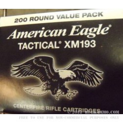 200 Rounds of .223 Ammo by Federal - 55gr FMJ