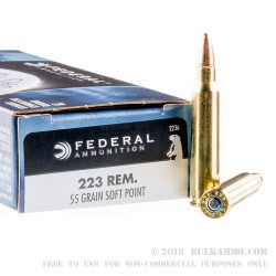 200 Rounds of .223 Ammo by Federal - 55gr SP