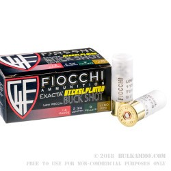 10 Rounds of 12ga LE Ammo by Fiocchi -  00 Buck