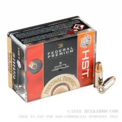 20 Rounds of 9mm Ammo by Federal - HST - 124gr JHP