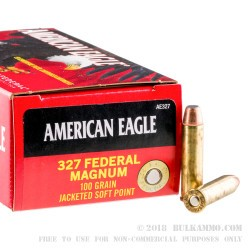 50 Rounds of .327 Federal Mag Ammo by Federal - 100gr JSP