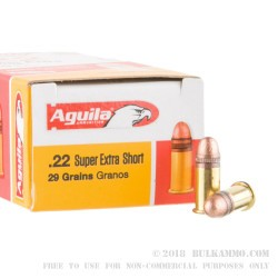 500 Rounds of .22 Short Ammo by Aguila - 29gr CPRN