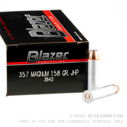 1000 Rounds of .357 Mag Ammo by CCI - 158gr JHP