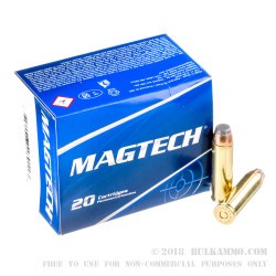 20 Rounds of .500 S&W Mag Ammo by Magtech - 325gr SJSP-Flat