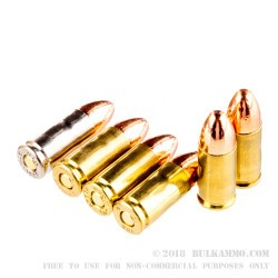 100 Rounds of 9mm Subsonic Ammo by MBI - 147gr FMJ