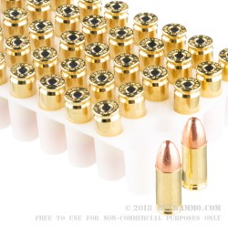 50 Rounds of 9mm Ammo by Federal Ultra - 115gr FMJ