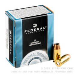 500 Rounds of .45 ACP Ammo by Federal Personal Defense - 185gr JHP