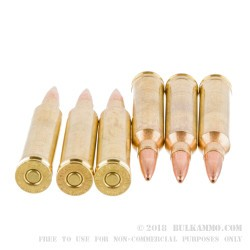 20 Rounds of 7 mm Rem Mag Ammo by Barnes - 160gr TSX