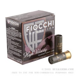 "25 Rounds of 12ga Ammo by Fiocchi High Velocity - 2 3/4"" 1 1/4 ounce #7 1/2 shot"