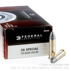 400 Rounds of .38 Spl Ammo by Federal Champion - 158gr LRN