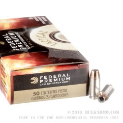 50 Rounds of .40 S&W Ammo by Federal Hydra-Shok - 155gr JHP