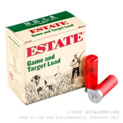 25 Rounds of 12ga Ammo by Estate Game and Target -  #6 shot