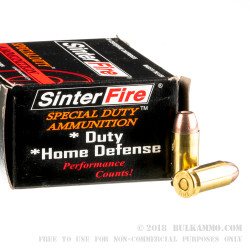 20 Rounds of .40 S&W Ammo by SinterFire - 125gr Frangible
