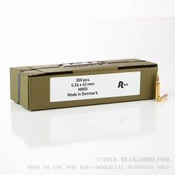 900 Rounds of 5.56x45 Ammo by Military Surplus - 62gr FMJ