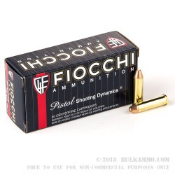 1000 Rounds of .357 Mag Ammo by Fiocchi - 142gr FMJTC