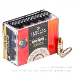200 Rounds of 9mm Ammo by Federal Hydra-Shok - 135gr JHP