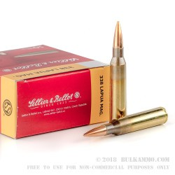 100 Rounds of .338 Lapua Ammo by Sellier & Bellot - 250gr HPBT