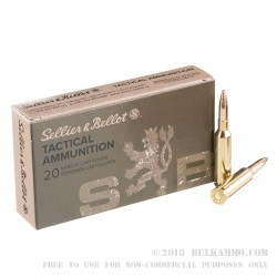 500 Rounds of 6.5 mm Creedmoor Ammo by Sellier & Bellot - 140gr FMJBT
