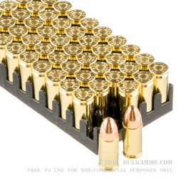 50 Rounds of 9mm Ammo by Magtech - 115gr FMJ