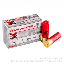 "10 Rounds of 12ga 3"" Ammo by Winchester Super X Turkey -  1-7/8 oz  #5 shot"