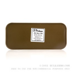 500 Round Sealed Container of .223 Ammo by Tula - 55gr FMJ