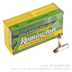 500 Rounds of .38 Spl +P Ammo by Remington Express - 125gr SJHP