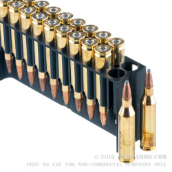 20 Rounds of .243 Win Ammo by Fiocchi - 70gr PSP