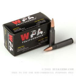 500  Rounds of .308 Win Ammo by Wolf WPA Polyformance - 145gr FMJ
