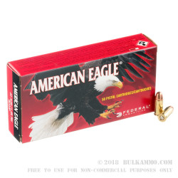 1000 Rounds of .32 ACP Ammo by Federal American Eagle - 71gr FMJ