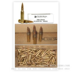 500  Rounds of .308 Win Ammo by Federal - 149gr FMJ