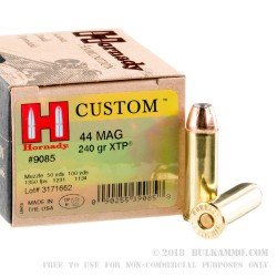 20 Rounds of .44 Mag Ammo by Hornady - 240gr JHP
