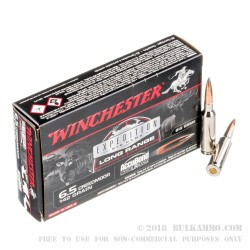 20 Rounds of 6.5 mm Creedmoor Ammo by Winchester Expedition - 142gr Nosler Accubond