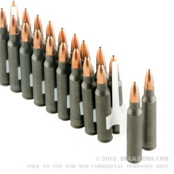 500 Rounds of .223 Ammo by Tula - 62gr HP