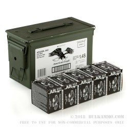 500 Rounds of .223 Ammo by Federal American Eagle - 55gr FMJ - Ammo Can