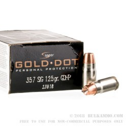 20 Rounds of .357 SIG Ammo by Speer - 125gr HP