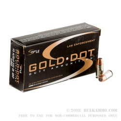 1000rds - 45 ACP Speer LE Gold Dot 200gr. +P HP Ammo