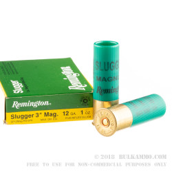 "250 Rounds of 12ga 3"" Ammo by Remington - 1 ounce Rifled Slug"
