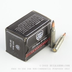 20 Rounds of .223 Ammo by MFS - 62gr Soft Point