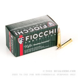 50 Rounds of .223 Ammo by Fiocchi - 62gr FMJBT