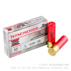 250 Rounds of 12ga Ammo by Winchester -  #1 Buck