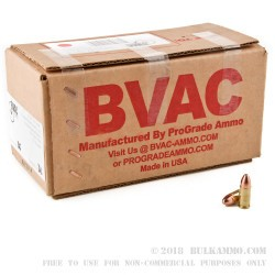 500  Rounds of 9mm Ammo by BVAC - 115gr CPRN