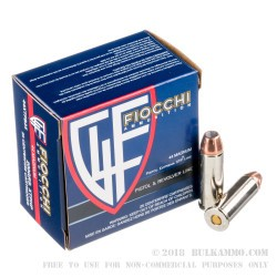25 Rounds of .44 Mag Ammo by Fiocchi - 200gr JHP XTP