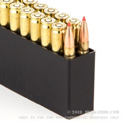 200 Rounds of .308 Win Ammo by Hornady Superformance Match - 168gr A-MAX Match