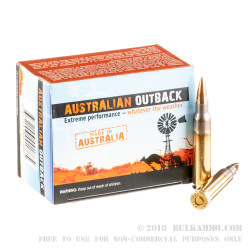 200 Rounds of .223 Ammo by ADI - 69gr HPBT Sierra MatchKing