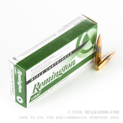 20 Rounds of .300 AAC Blackout Ammo by Remington - 120gr OTM