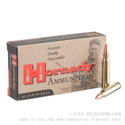 20 Rounds of .223 Ammo by Hornady - 55gr V-Max