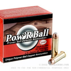 20 Rounds of .357 Mag Ammo by Corbon - 100gr PowR Ball